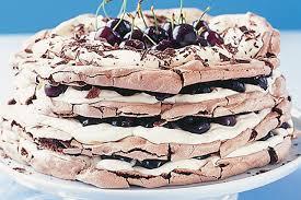 black forest meringue cake