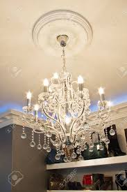 very expensive chandelier in an exclusive store stock photo