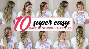 easy hairstyles for school trip 10 super easy back to school hairstyles luxy hair