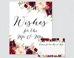 wedding wishes to a wedding wish cards etsy