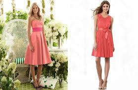 bridesmaid dresses coral coral bridesmaid dresses weddbook
