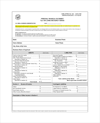 Personal Financial Statement Excel Template Sle Personal Financial Statement 9 Exles In Pdf Word Excel