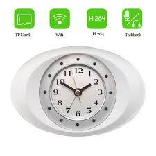 hd 720p video concealed clock camera ip wifi camera alarm clock