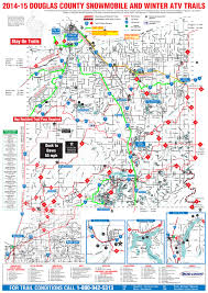 Namekagon River Map Douglas County Wi Winter 2014 15 Snowmobile And Atv Trail Map