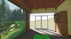 golf simulator home theater the curtis golf simulator man cave pool side youtube
