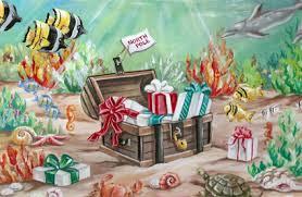 treasure chest christmas card