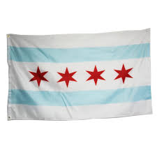 Chicaho Flag Stadt Chicago Flagge Illinois Banner Windig Stadt Wimpel 3x5 Meter