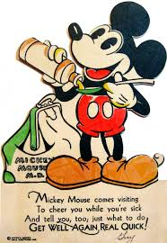 cards for sick friends mickey mouse m d totally sending this out when my friends are sick