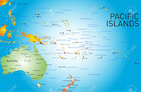Map Of Pacific Ocean Island And City Maps For Oceania The Pacific Stadskartor Och Best