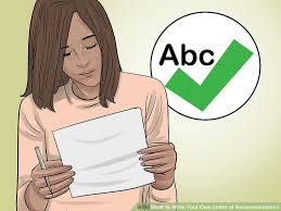 how to write your own letter of recommendation 14 steps