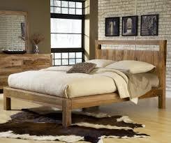 Bedroom Sets Natural Wood Modus Atria 4 Piece Platform Bedroom Set In Natural Sheesham