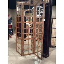 carved wood room divider wayfair