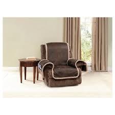Brown Recliner Sofa Vintage Leather Recliner Furniture Cover Brown Sure Fit Target