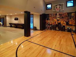 Decorating Home Gym Wonderful Indoor Basketball Hoop Wall Mount Decorating Ideas