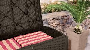 99 gallon resin wicker deck box suncast corporation