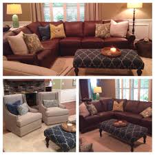 king hickory leather sofa another fabulous customer custom order love the comfort design