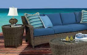 sea rattan saint john wicker left side facing sofa sectional in
