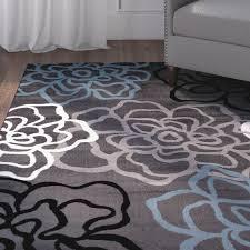 winston porter sharen gray area rug u0026 reviews wayfair