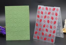 plastic photo album plastic embossing folders strawberry cut flowers for diy