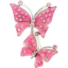 pink butterfly pin brooch fantasyard costume jewelry