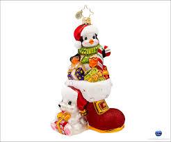 christopher radko lovable duo christmas ornament