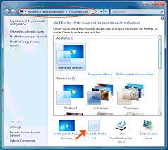 personnalisation du bureau modifier la couleur des fenêtres sous windows 7