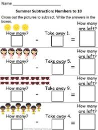 18 summer themed addition u0026 subtraction worksheets sums numbers