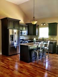 image of kitchen dark wood floor oak cabinets inspiring home design