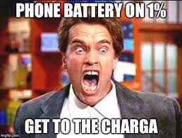 Battery Meme - phone battery on 1 get to the charga meme