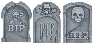tombstone decorations rip skull tombstone 314625 trendyhalloween