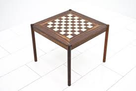 Chess Table by Rosewood Flip Top Chess Table By Georg Petersen 1960s For Sale At