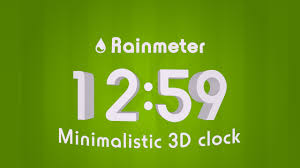 minimalistic rainmeter minimalistic 3d clock by h thomson on deviantart