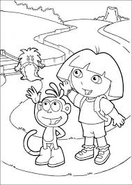 dora explorer kids coloring pages free colouring pictures