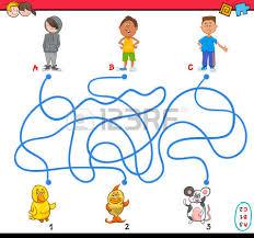 imagenes educativas animadas ilustración de dibujos animados de rutas educativas o laberinto