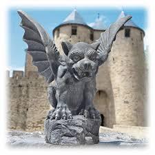 gargoyle home decor dark gray florentine gargoyle statue 12