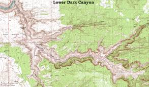 Utah Topo Maps by Backpacking In Dark Canyon