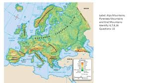 Ural Mountains On World Map by Europe Geography Identify Define Questions And Labeling Ppt