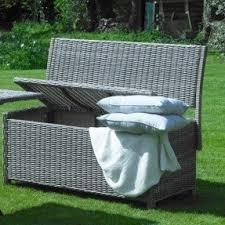 outdoor wicker storage bench foter