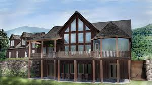 Lake House Plans Walkout Basement Open House Plan With 3 Car Garage Car Garage Mountain House