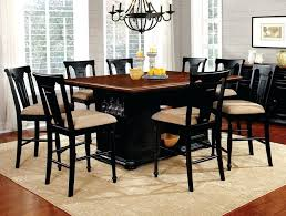 dining chairs black counter dining set throughout height room
