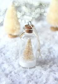 snowy bottle brush tree ornaments satori design for living