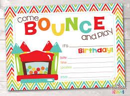bouncy castle instant birthday invitation