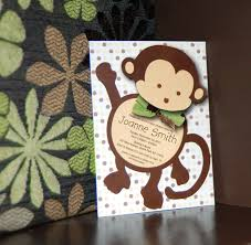 Baby Shower Invitations And Thank You Cards Mod Monkey Baby Shower Invitation And Bonus Thank You Card