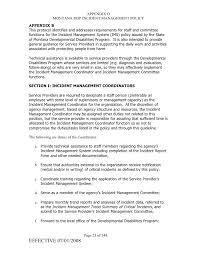 dd program incident management policy