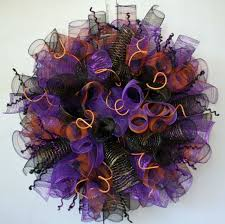 custom curled mesh halloween wreath by dyjo designs custommade com