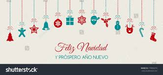 feliz navidad christmas card feliz navidad merry christmas christmas stock vector
