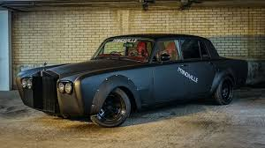 wrapped rolls royce evil rolls royce silver shadow drift car selling for 130k