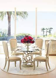 Michael Amini Dining Room After Eight Pearl Octagonal Glass Top Dining Table By Michael