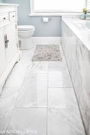 awesome decor white bathroom floor tile with 1 in modern wonderful