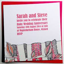 Online Invitation Card Ruby Anniversary Invitations Ruby Wedding Invitations Cards
